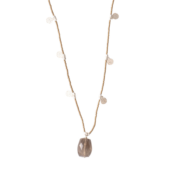 Smokey Quartz Silver Necklace | Sustainable jewelry