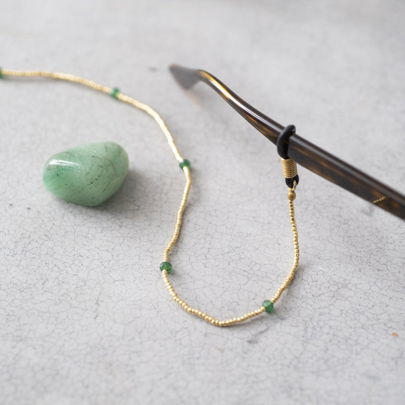 Duurzame Mode | A Beautiful Story Rainbow Aventurine Gold Glasses Cord