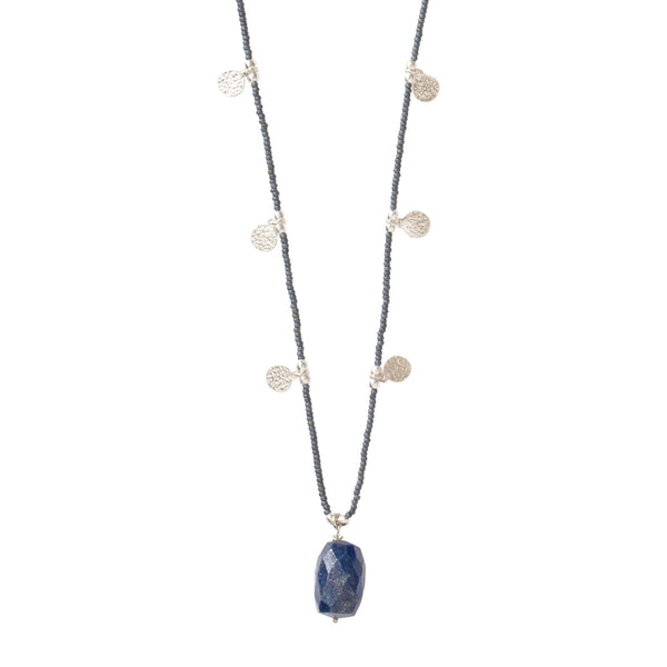 A Beautiful Story Charming Lapis Lazuli Silver necklace