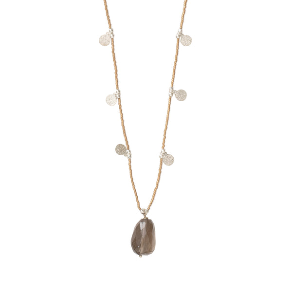 A Beautiful Story Charming Smokey Quartz Silver Necklace