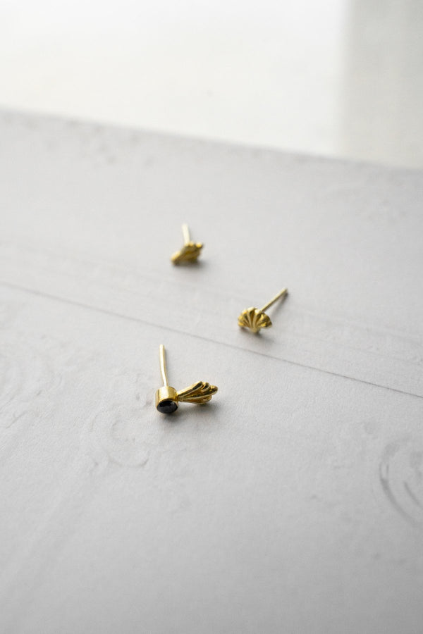 Flawed Black Ornamental Studs