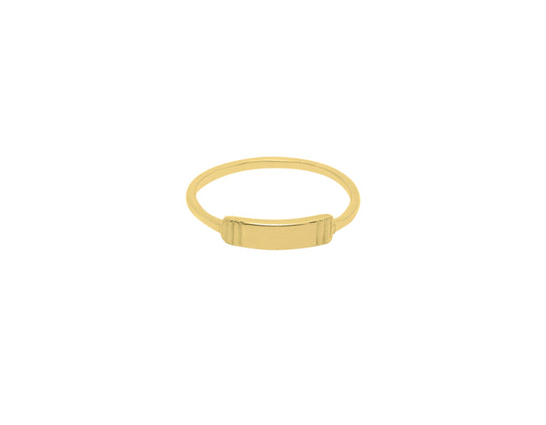 Flawed Modern Plate ring – Gold
