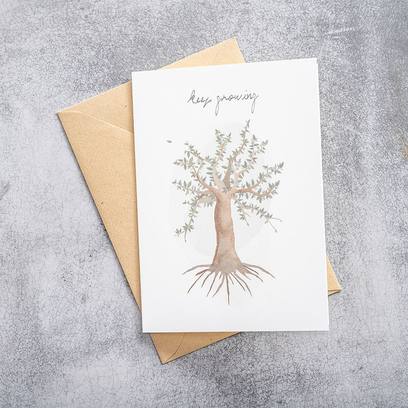 A Beautiful Story Postcard Tree