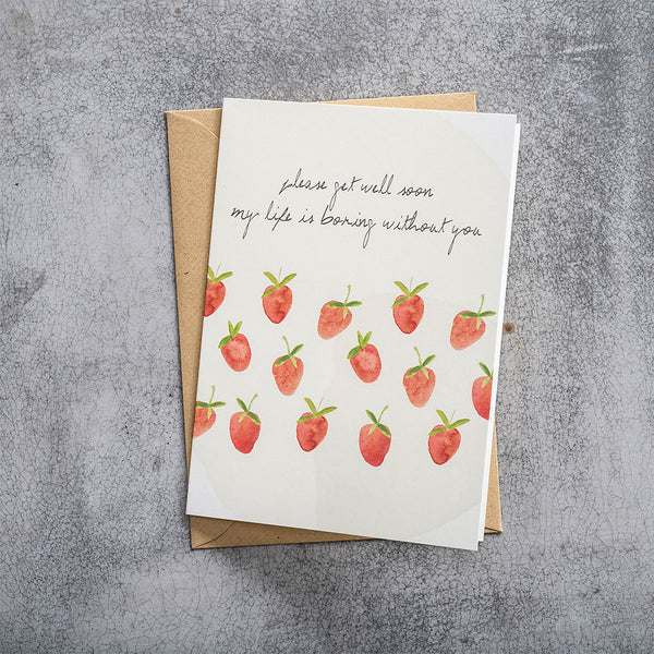 Duurzame Lifestyle | A Beautiful Story Postcard Strawberries