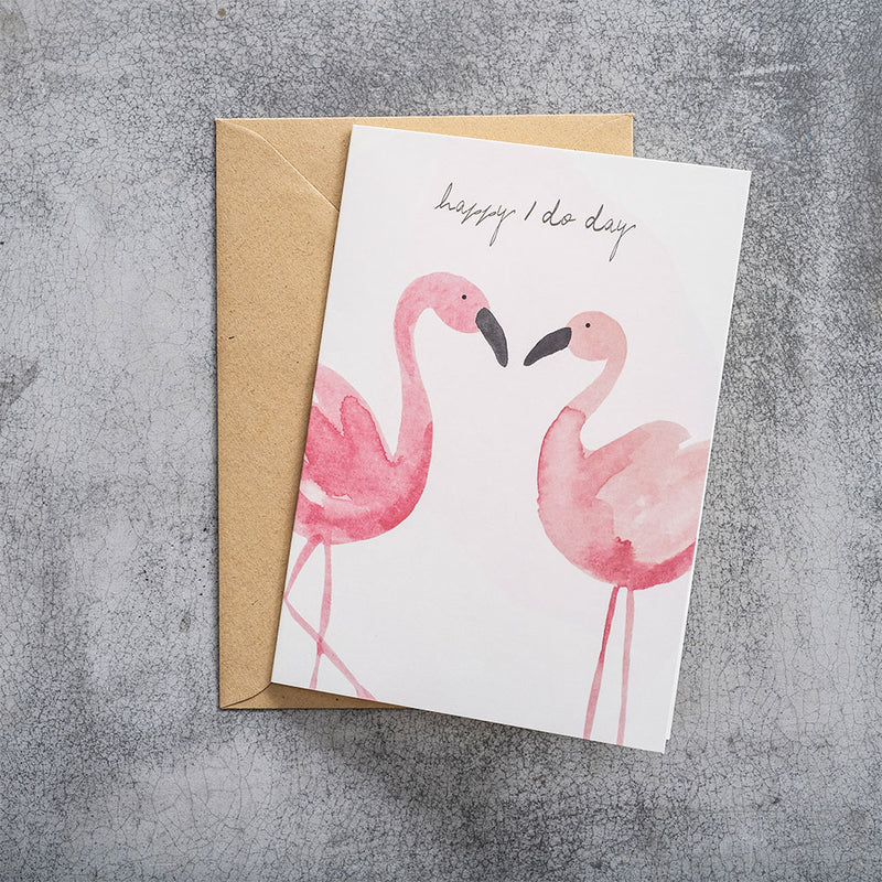 A Beautiful Story Postcard Flamingos