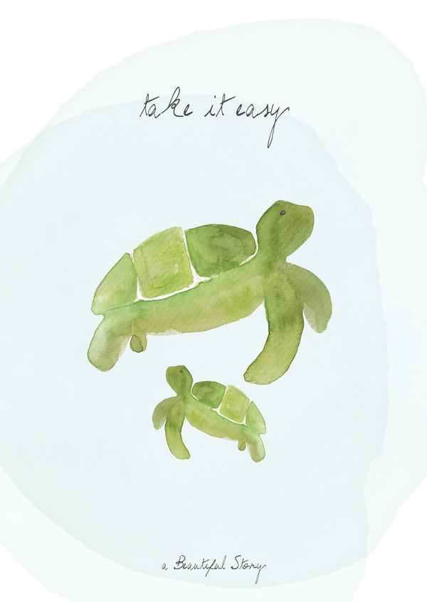 Duurzame Lifestyle | A Beautiful Story Postcard Turtles
