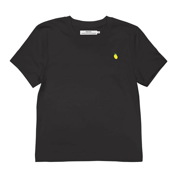 Dedicated zwart Dames T-shirt lemon | Duurzame mode