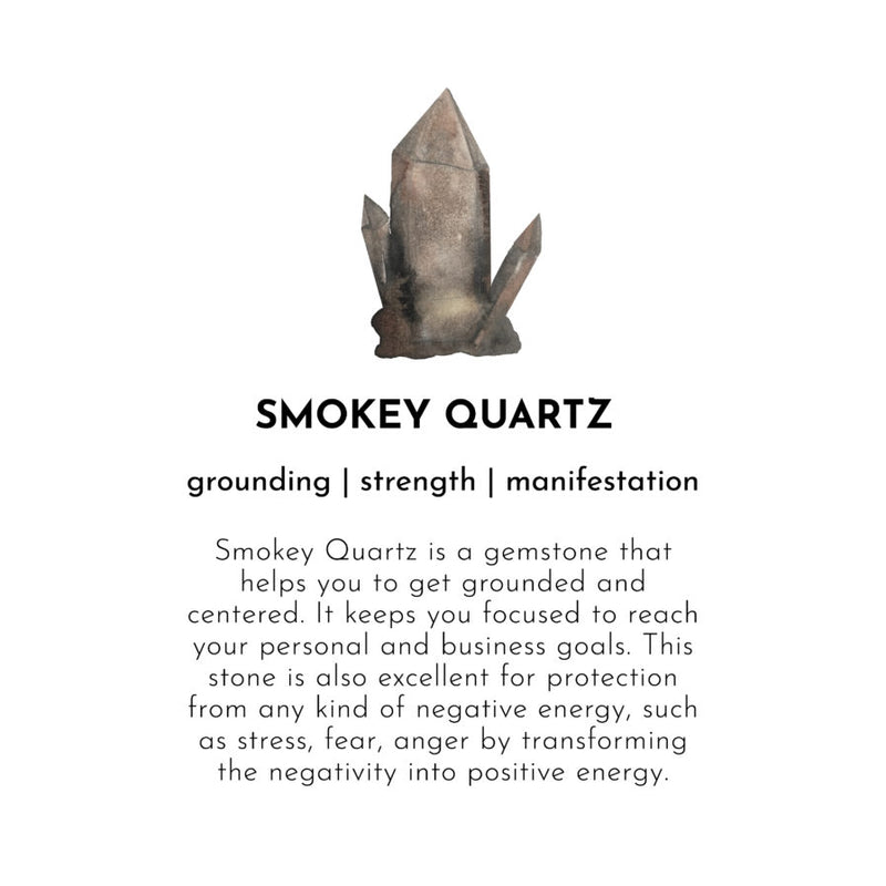 Duurzame sieraden | A Beautiful Story Gemstone Card Smokey Quartz Silver Bracelet