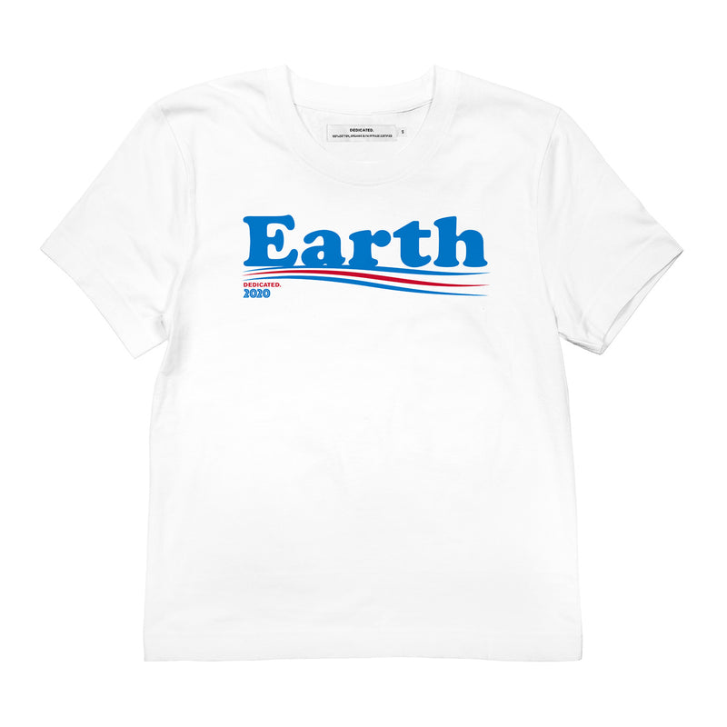 Dedicated Dames T-shirt Vote Earth