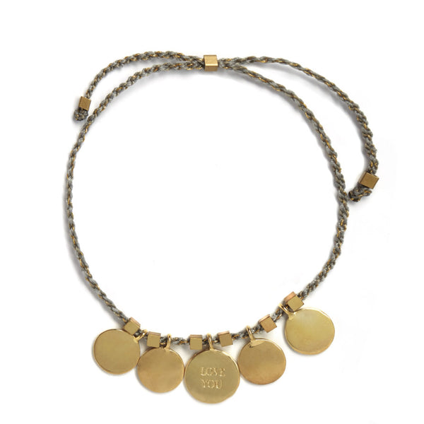 Riverstones Love You bracelet goud