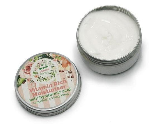Face Moisturiser with Hyaluronic Acid, Grapefruit & Ylang Ylang - Purpledaisy At Home