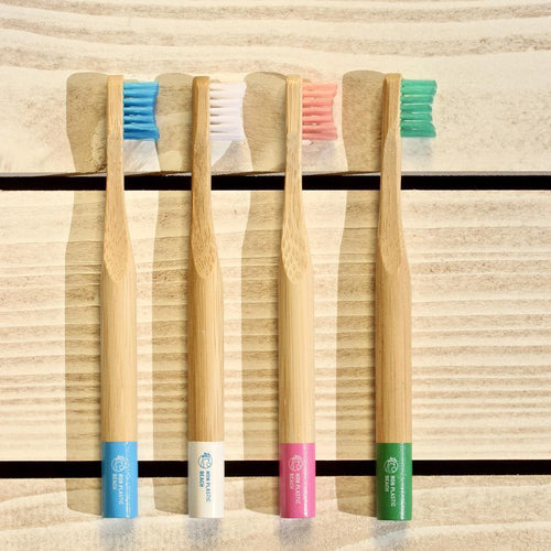 Biodegradable Bamboo Toothbrushes for Kids - Purpledaisy At Home