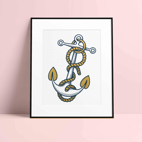 Framed Anchor Print (Limited Edition) by Rob Bartlett - Purpledaisy At Home