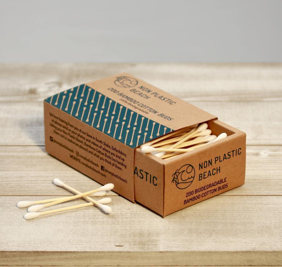 Bamboo Cotton Buds (Box of 200) - Purpledaisy At Home