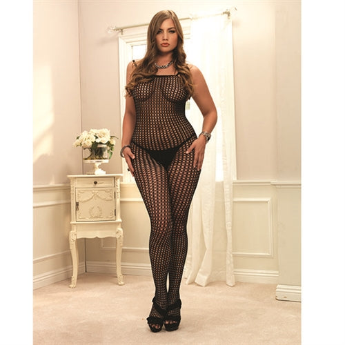 Crochet Net Bodystocking - Queen Size - Black - Leg Avenue -  Los Angeles Lingerie