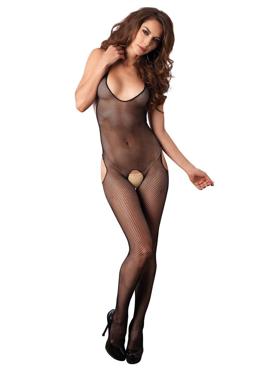 Fishnet Cut Out Bodystocking - One Size - Black - Leg Avenue -  Los Angeles Lingerie
