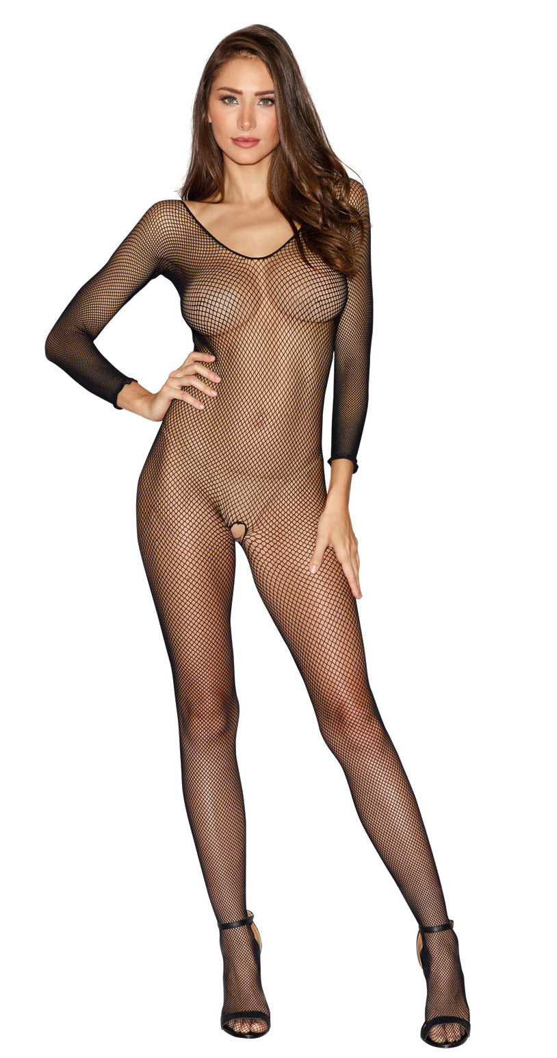 Bodystocking - One Size - Black - Dreamgirl -  Los Angeles Lingerie