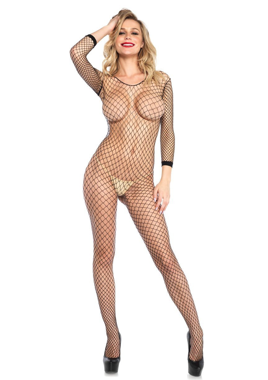 Industrial Net Bodystocking - One Size - Black - Leg Avenue -  Los Angeles Lingerie