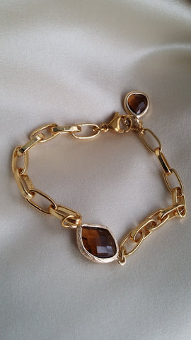 The Glass Sienna Paperclip Bracelet