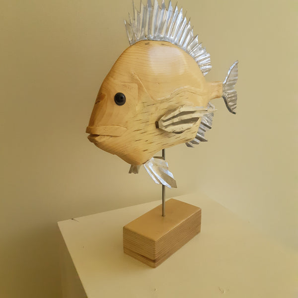 Carved Spruce Fish