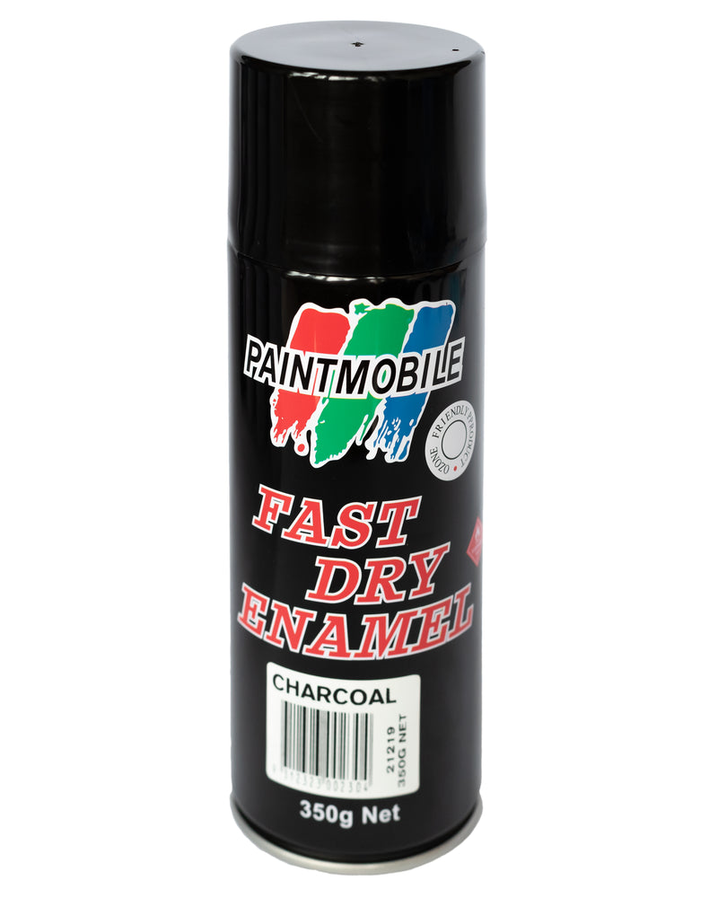 Paintmobile Fast Dry Enamel Spray Can - Charcoal