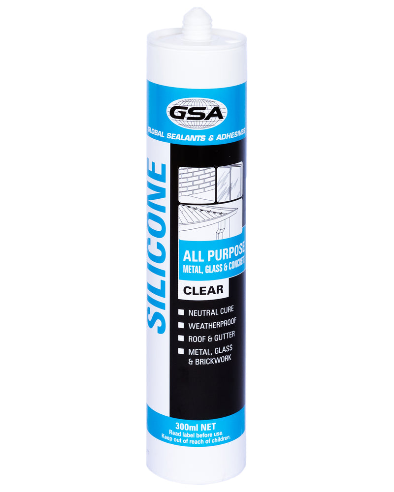 GSA All Purpose Silicone Clear 300ml