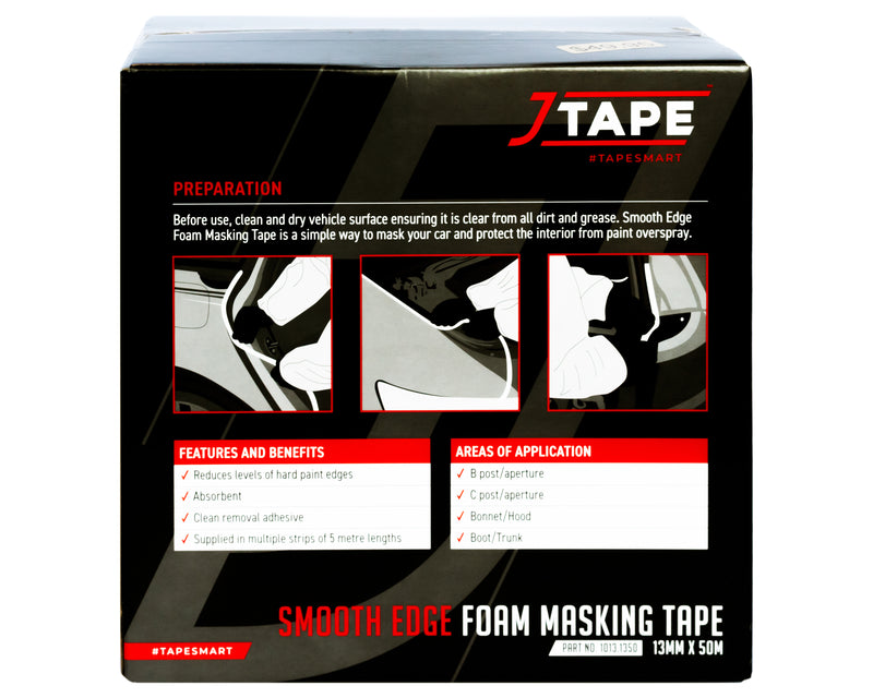 J TAPE Smooth Edge Masking Tape (13mmx50m)