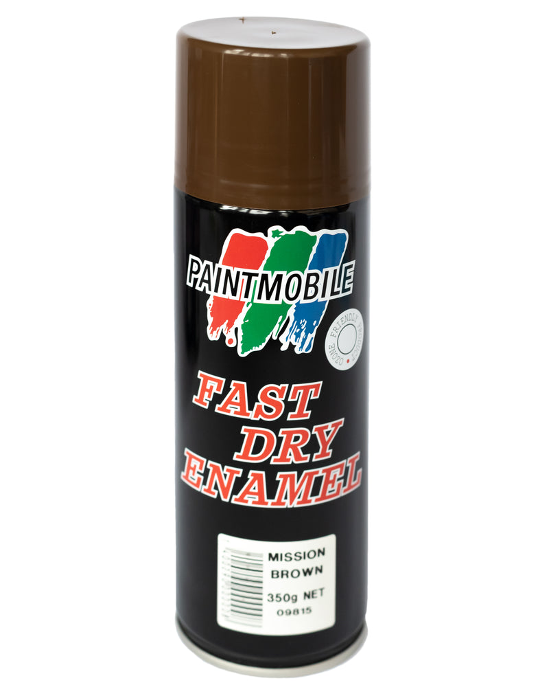 Paintmobile Fast Dry Enamel Spray Can - Mission Brown
