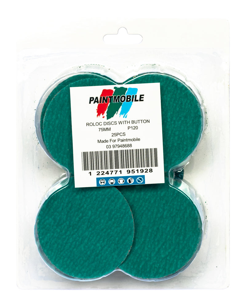 ROLOC 3' Sanding disc 80 Grit Pack of 25