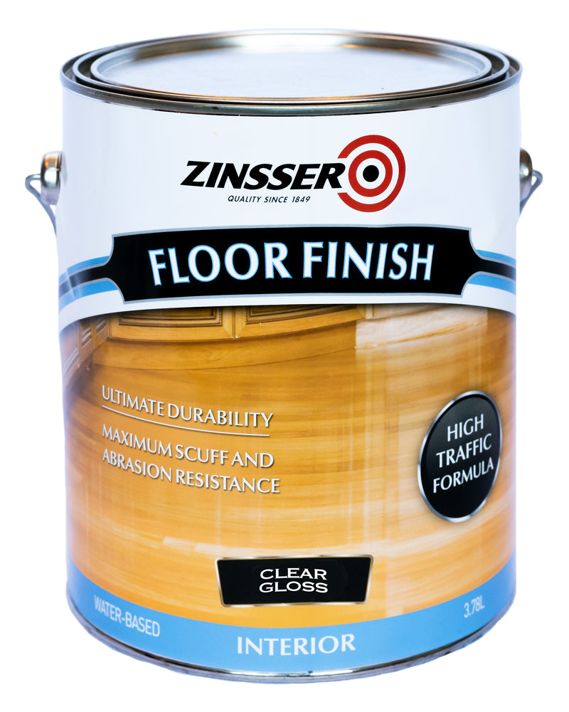 Zinsser Water Based Floor Finish Clear 4L