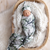 Giggle & Beans Swaddle Set | Forest Shadows with Beanie