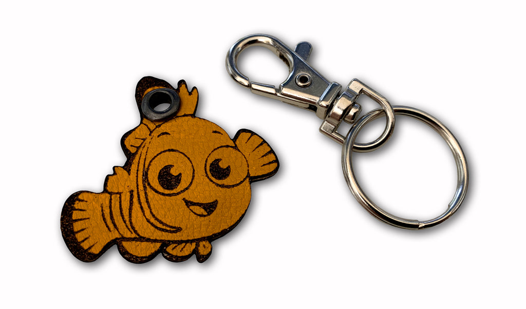 Leather Keyring Fish (Magnetic Which Hand Accessory)