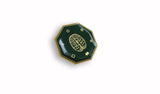 MindFX Enamel Badge - Gold/Green (One Inch Magnetic Fastening)