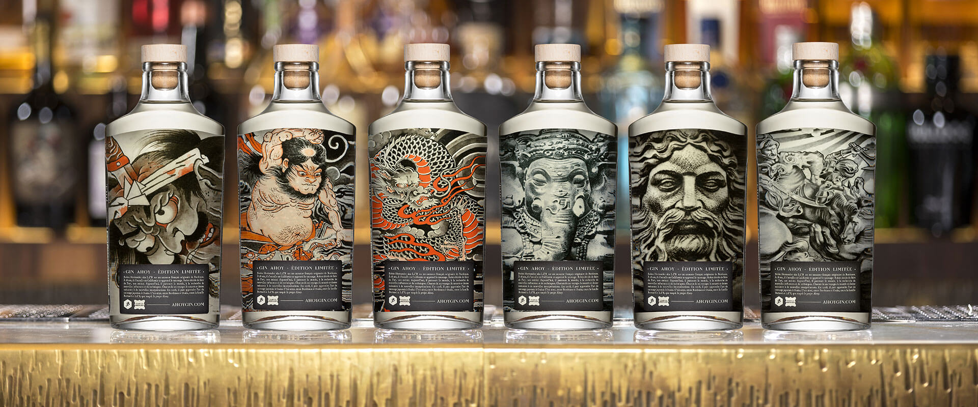 Collection bouteilles Ahoy Gin