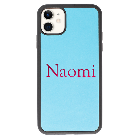 blue nappa leather back case