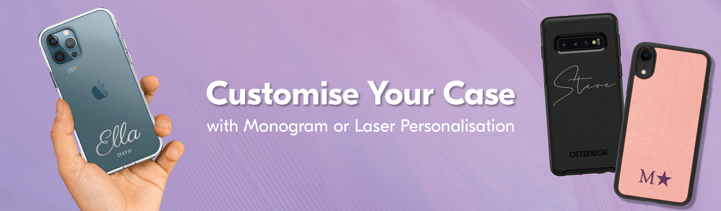 how to customise your case with monogram or laser personalisation banner
