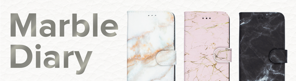 custom marble diary wallet cases for iphone and samsung