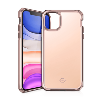 Itskins Hybrid Glass Case for iPhone XR (Rose Gold) Case CUSTOMISE