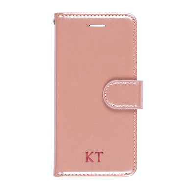 Faux Leather Wallet Case for iPhone 7/8 (Rose Gold) Case CUSTOMISE