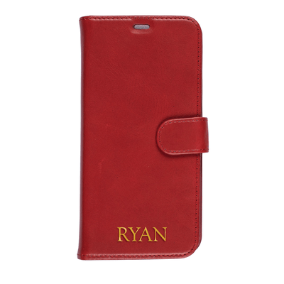 Genuine Leather Wallet Case for iPhone XS Max Case CUSTOMISE