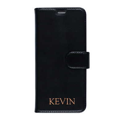 Genuine Leather Wallet Case for Samsung Galaxy S8 (Black) Case CUSTOMISE
