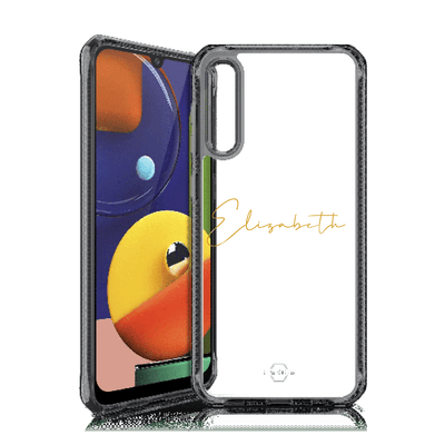 Itskins Hybrid Clear Case for Samsung Galaxy A50 (Black) Case CUSTOMISE
