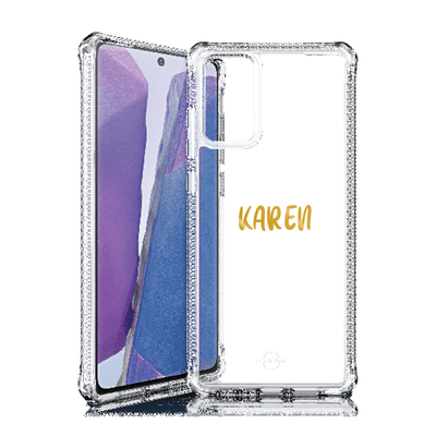 Itskins Hybrid Clear Case for Samsung Galaxy Note 20 (Clear) Case CUSTOMISE