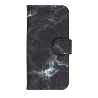 Marble Diary Wallet Case for iPhone 7 Plus/8 Plus Case Black CUSTOMISE
