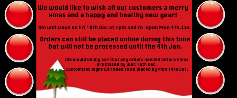 Wishing all our customers a happy and healthy new year!