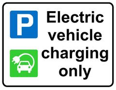 Electric vehicle charging only sign