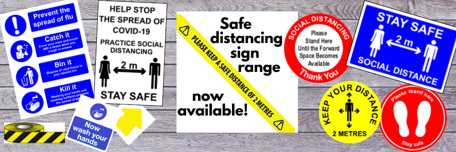Our large range of social distancing signs including signs, floor graphics, tape and more. With floor arrows to help create a one way system, floor graphics advising people where to stand, hand washing signs and more.