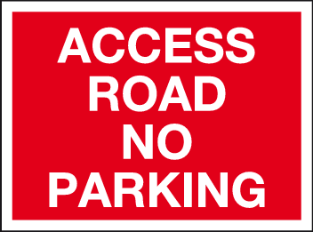 Access road no parking