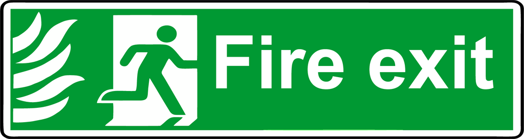 NHS fire exit sign