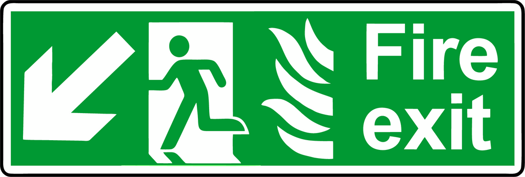 Fire Exit diagonal down left